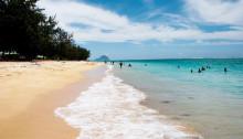 La plage de Flic en Flac en Île Maurice